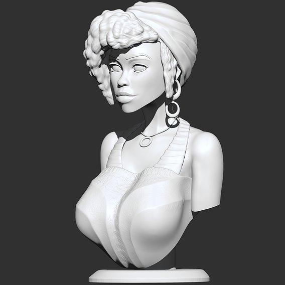 Stylized Female Bust