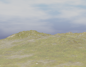 3D model Grassy Mountain Terrain