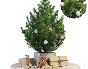 Christmas tree other present 3D