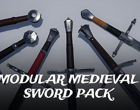 3D asset Modular Medieval Sword Pack for UE4