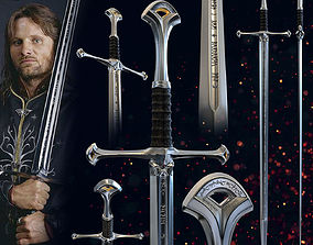 3D print model ARAGORN SWORD ANDURIL - LORD OF THE RINGS