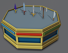 Set of weapons Free low-poly 3D model realtime