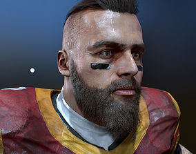 American Football Player High Details 3D