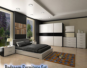 3D model Bedroom Furniture 4 Set