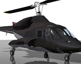 3D model animated tv Airwolf Bell 222 Helicopter