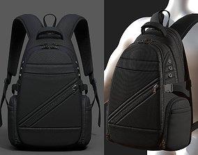 Backpack Camping Generic military human bag 3D asset 2