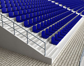 Stadium Concrete Seating Tribune 3D model