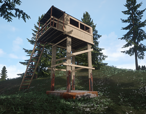 3D Watch tower architectural