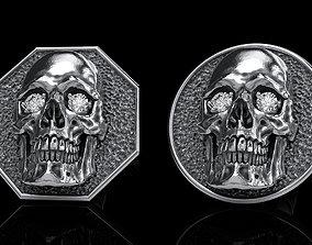 skull earrings studs 2 character 3D model