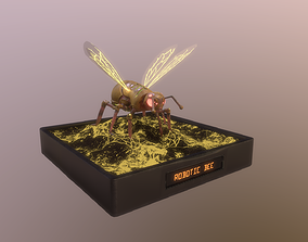3D asset Robotic Bee