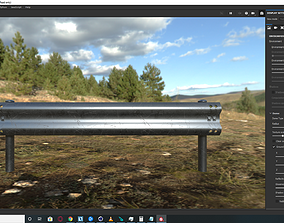 Road Safety Barrier 2A Low-poly PBR 3D model