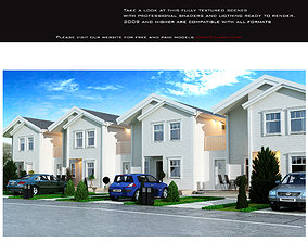 Row villas 3D asset