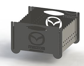 Grill with Mazda logo 300x300 for laser 3D print model