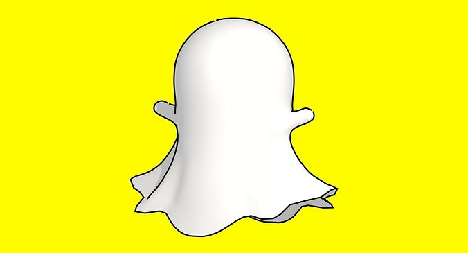 snapchat-ghost-3d-model-low-poly-obj-3ds