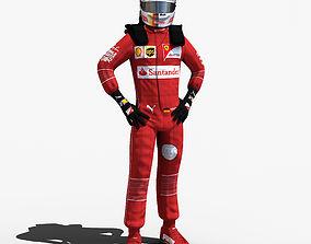 3D model Sebastian Vettel 2017