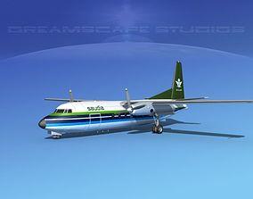 3D Fokker F-27 Saudi Arabia