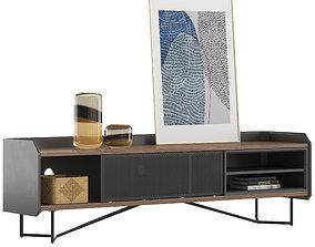 3D Castlery Hex TV console
