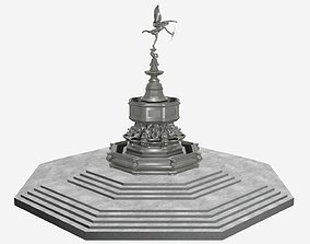 3D model Shaftesbury Memorial Fountain Piccadilly Circus