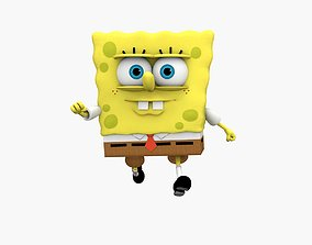Spongebob 3D asset animated