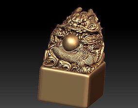 cnc 3D print model Dragon Seal