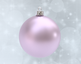 Pastel Pink christmas ball 3D