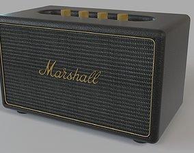 Marshall Stanmore Black Multi-Room Wifi Speaker 3D