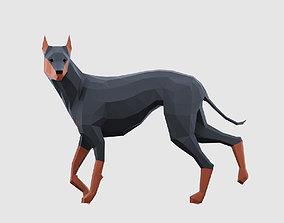 3D model Lowpoly Dogs