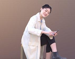 Francine 10348 - Sitting Scientist Woman 3D asset