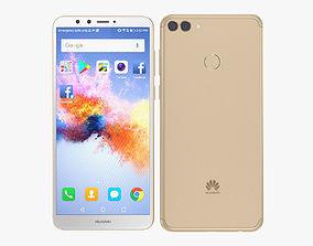 3D Huawei Y9 2018 Gold