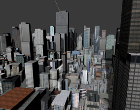 New York Times Square Topography Street Map 3D model
