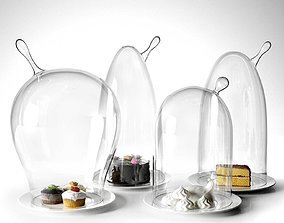 3D Glass Domes with Dessert modern