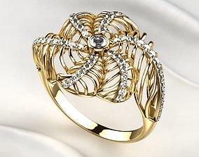 3D print model Seashell Beautiful Gold Ring