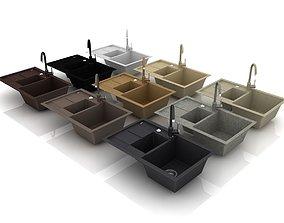 3D mixer Kitchen Sink