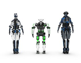 Sci-Fi Characters Pack 3D model