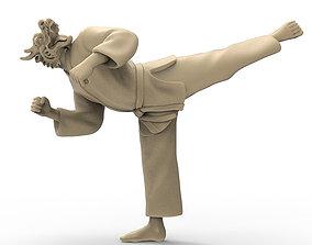 3D print model Dragon Back Kick