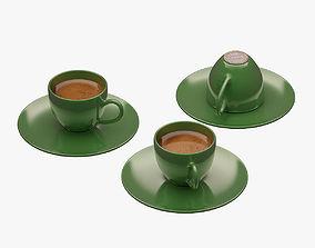 3D model VR / AR ready Turkish Coffee Set