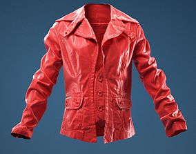 Jeans Jacket Stylish Decorated 3D model