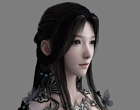 3D model Chinese beauty Woman Female pretty 3