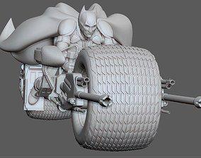 3D print model BATMAN ON BATPOD DARK KNIGHT DC MOVIE 1