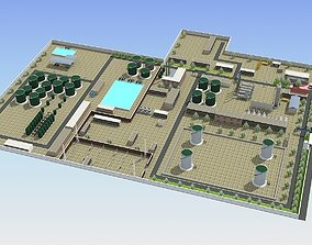 Wastewater Treatment Plant 3D model realtime