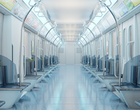 train interior made in blender 3D
