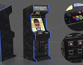 3D model PBR Arcade Machine