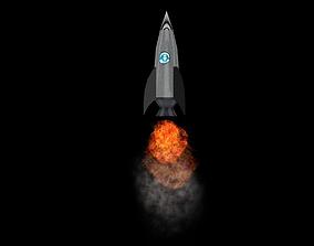 Rocket 3D model realtime