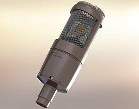 Large diaphragm condenser microphone 3D