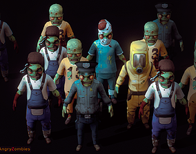 Angry Zombies 3D asset