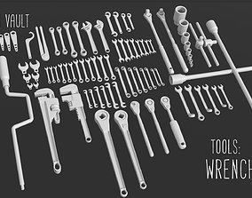 3D model game-ready Kitbash Vault Tools Wrenches