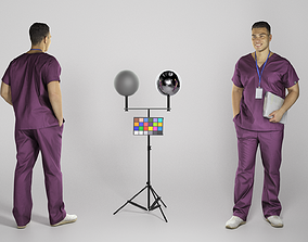 Handsome young doctor smiling 287 3D model