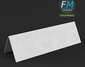 3D Table tent template 5