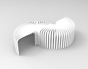 3D asset Fan Stool