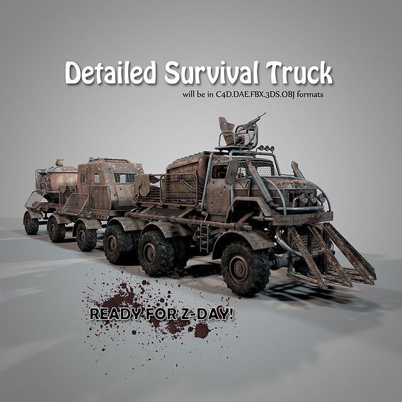 Detailed Survival Truck is ready to purchase.